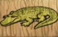 Hugo jungle island memory alligator