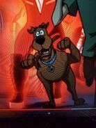 Scooby running for the kiss monsters