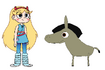 Star meets Domestic Donkey