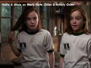 Hallie & Annie (The Parent Trap) as Mary-Kate Oslen & Ashely Oslen (Twin