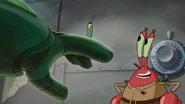 Krabs beat plankton up