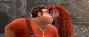 Ralph and merida kissing