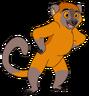 Bam-Bam the Golden Lemur