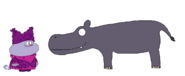 Chowder meets Common Hippopotamus