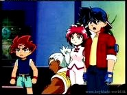 Mariah with Rick, Daichi and Tyson