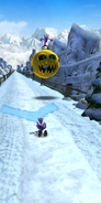 Sonic dash game over blaze defeated in snow
