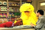 Big Bird, Elmo and Baby Bear take a nap in Hooper's Store