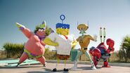 Spongebob and his hero friends