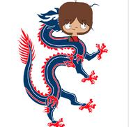 Mac Foster as a dragon