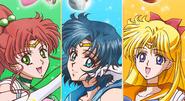 Sailor Mercury, Jupiter And Venus
