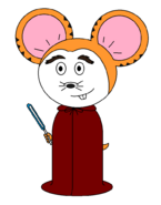Stanz Hamster (with a pale blue lightsaber)