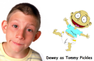 Dewey (from Malcolm In The Middle) as Tommy Pickles