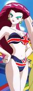 Jessie in a British bikini.