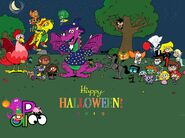 Happy Halloween from Barney, Dora, Lincoln, and Friends