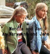 Marcia Brady and Jan Brady as Mary Ann and Jane