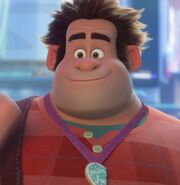 Wreck-It Ralph smiles at Vanellope and waves goodbye