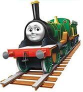 Emily the big wheeled engine as Megan Spitfire fassler