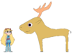 Star meets White-Tailed Deer