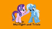 Starlight and Trixie (aka Timon and Pumbaa)