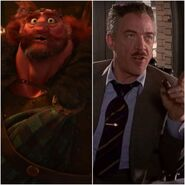 King Fergus as J. Jonah Jameson