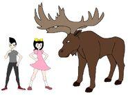 Riley and Elycia meets Alaskan Moose