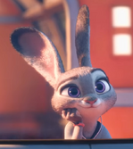 Judy wating for the town
