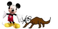 Mickey meets sea otter