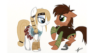 Ponified Hiccup and Astrid