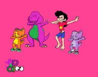 Barney and Stevonnie