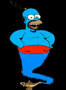 Homer Simpson as the Genie