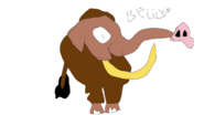 Fan Characters Bellow Prehistoric Elephant