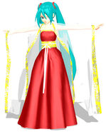 Miku chinese clothing