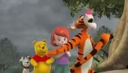 Tigger cries because his shadow disappeared