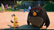 Chuck and Bomb Staring at Red's House (Angry Birds)