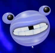 Periwinkle Planet with Light Periwinkle Stripes and Gap Teeth
