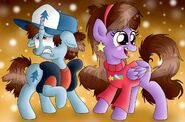 Ponified Dipper and Mabel Pines
