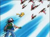 Pikachu Saves Ash