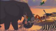 GREENPEACE-HACKING-DISNEY-animals-1- Lion King Elephant
