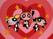The Powerpuff Girls as opera singers