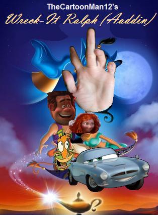 Wreck it ralph aladdin poster