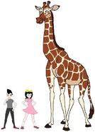 Riley and Elycia meets Reticulated Giraffe