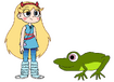 Star meets Common Frog