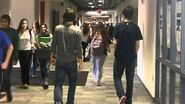 Teens walking down hallway transition - YouTube