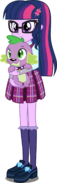 Eqg human twilight and spike by xebck-d9bwbtd