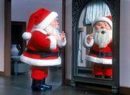 Santa wearing coat