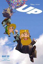 Up (Disney and Sega Version) Poster
