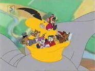 Bernard and Miss Bianca Gets Stuck in Dumbo's Hat