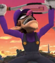 Waluigi in Super Smash Bros. for Wii-U and 3DS