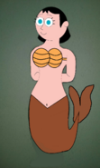 Ms. Keane as a Mermaid