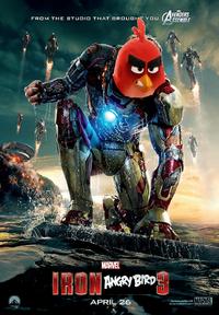 Iron-Angry Bird 3 (Iron Man 3) Poster